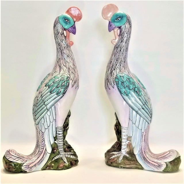 Phoenix Bird Statues - Super Large 17 Inches - Feng Shui - Asian Palm Beach Boho Chic Animals Tropical Coastal For Sale - Image 13 of 13