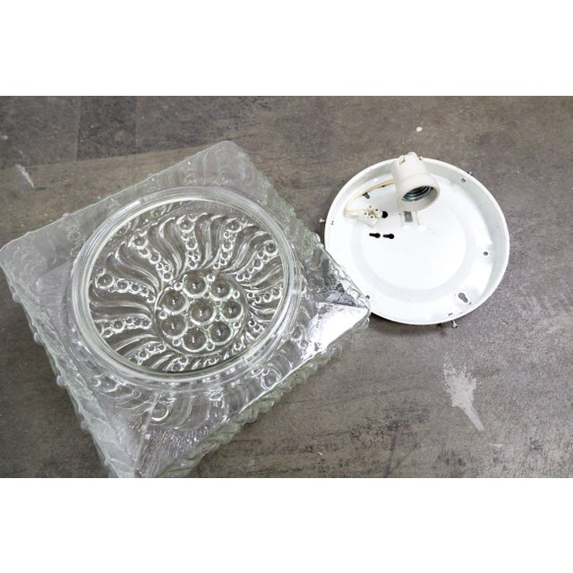 Mid-Century Radial Bloom Glass Flush Mount For Sale - Image 11 of 12