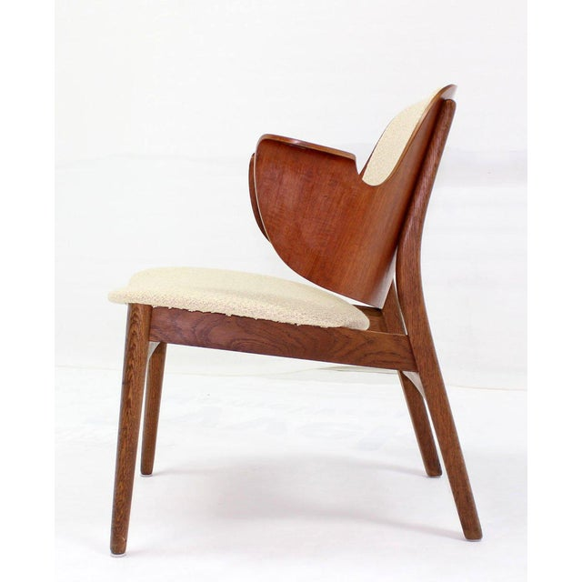 Brown Mid-Century Modern Molded Plywood Barrel Back Armchair with New Upholstery For Sale - Image 8 of 10