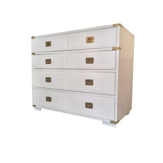 1960s Mid-Century Modern Thomasville Campaign White Chest of Drawers