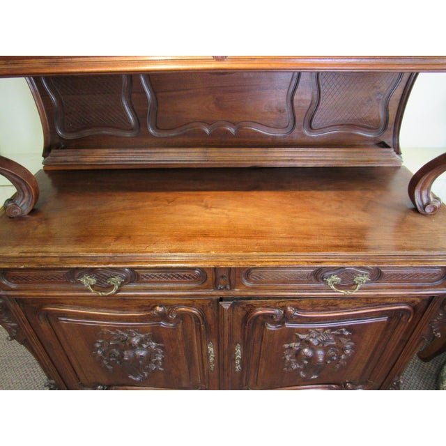 1900 French Walnut China Cabinet For Sale In Philadelphia - Image 6 of 13