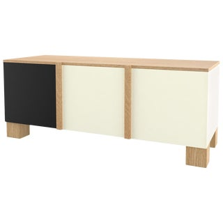 Contemporary 101 Sideboard in Oak and Black and White by Orphan Work, 2019 For Sale