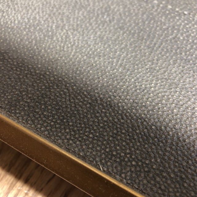 Metal New Four Hands Bentley Shagreen Shadow Box Coffee Table For Sale - Image 7 of 11