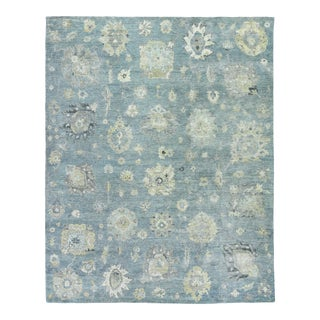 Exquisite Rugs, Evie, Hand Knotted, Wool, Light Blue & Multi - 8'x10' For Sale