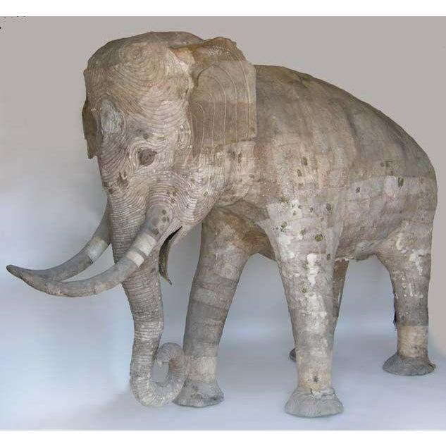 Life Size Papier Mache Elephant - Image 2 of 9