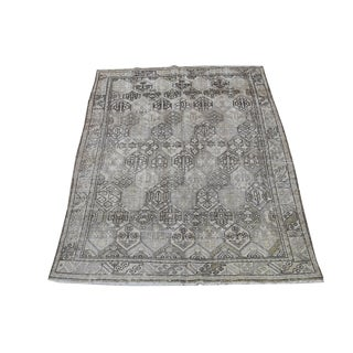 "Early 20th Century Vintage Persian Bakhtiar Rug- 6'6""x9'3"" For Sale"