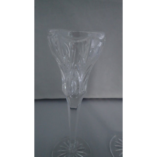 Elegant Marquis by Waterford Canterbury Candlesticks S/2 - Image 4 of 7