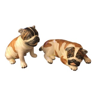 Chelsea House Henry Ford Museum Porcelain Pug Figurines - a Pair For Sale