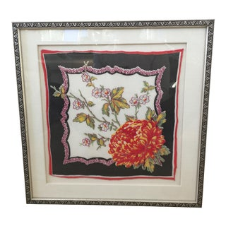 Framed Vintage Handkerchief For Sale