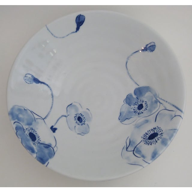 Blue Poppies Serving Bowl - Image 3 of 5