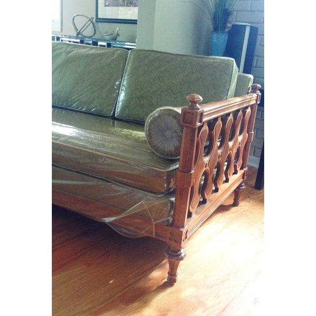 American of Martinsville Burl Panel Arm Sofa - Image 6 of 10