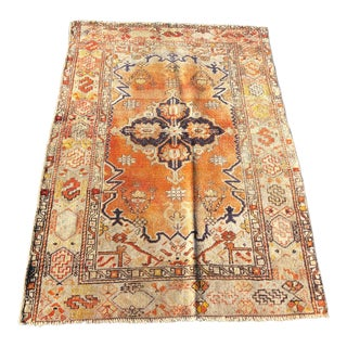 "Vintage Turkish Anatolian Rug - 3'8"" x 5' For Sale"