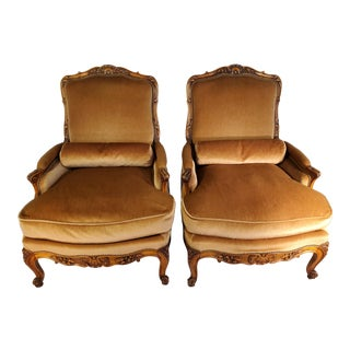 Early 20th Century French Bergeres- A Pair For Sale
