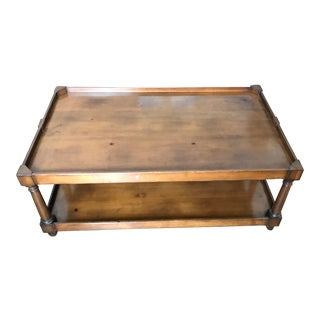 1980s Transitional Baker Milling Road Coffee Table For Sale