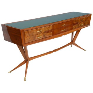 Fine Italian Modern Mahogany Walnut and Rootwood Buffet/Console For Sale