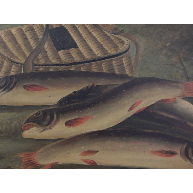 Trout and Creel Painting For Sale - Image 4 of 7