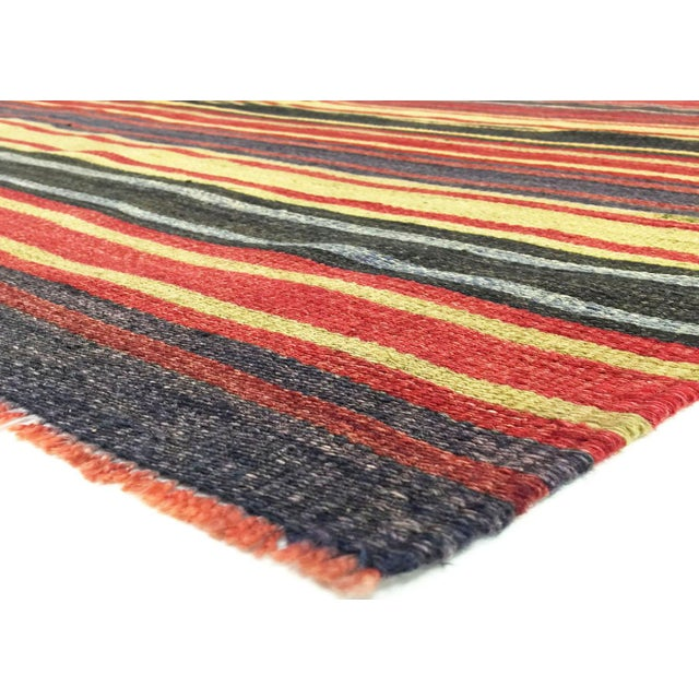 1950s vintage Turkish wool kilim. Hand woven with a wool on wool foundation in the Oushak region of Western Turkey. Kilims...