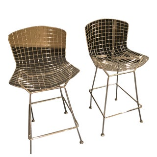 Bertoia Chrome Counter Stools For Sale