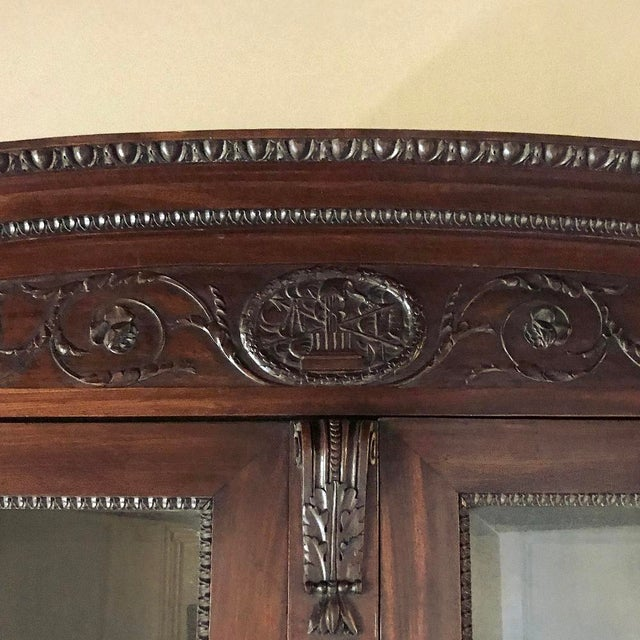 Louis XVI 19th Century French Louis XVI Mahogany Bookcase ~ Vitrine For Sale - Image 3 of 12