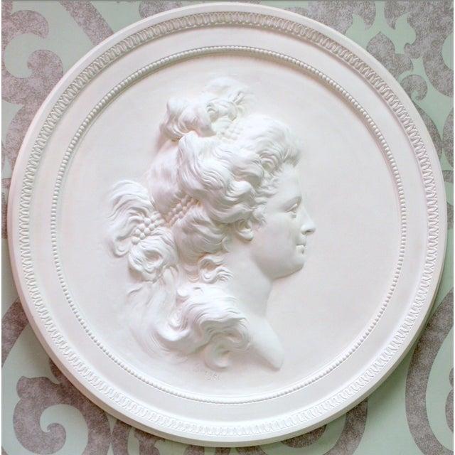 Swedish Plaster Portrait Medallion For Sale - Image 4 of 4