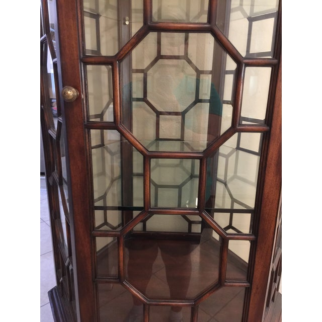 Italian Made in Italy Curio Cabinet For Sale - Image 3 of 5