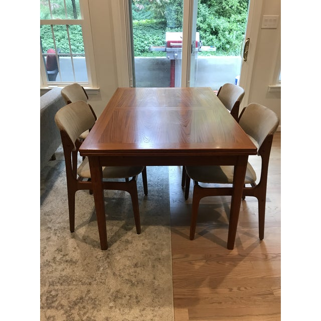 Mid-Century Dining Table & Chairs by Skovby & o.d. Mobler - Set of 5 For Sale - Image 13 of 13