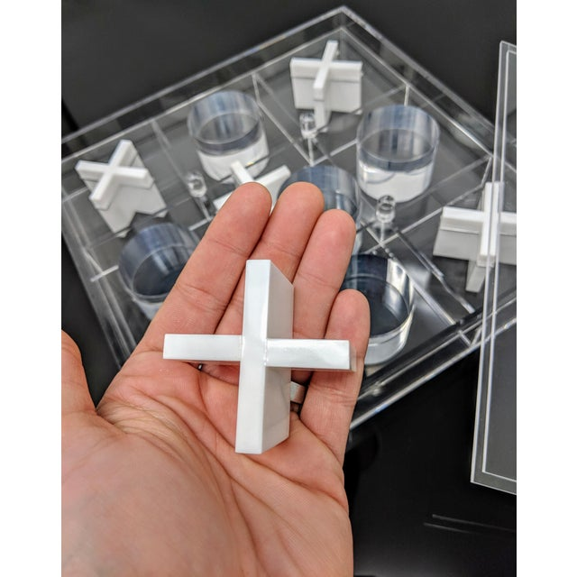 Transparent Acrylic Tic-Tac-Toe Game Board For Sale - Image 8 of 10