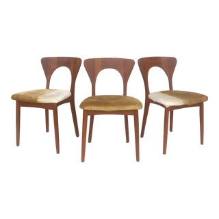Mid-Century Teak Dining Chairs by Koefoed Hornslet- Set of 3 For Sale