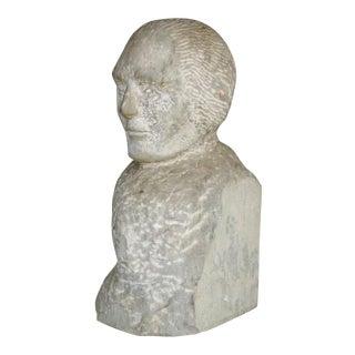 Granite Carving of Man Sculpture For Sale