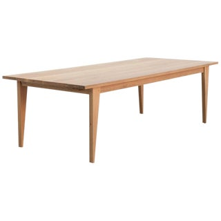 Custom Expandable Dining Table Made From Quarter Sawn Oak For Sale