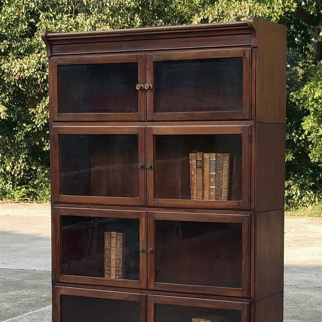 Antique English Mahogany Bookcase ~ File Cabinet For Sale - Image 10 of 12