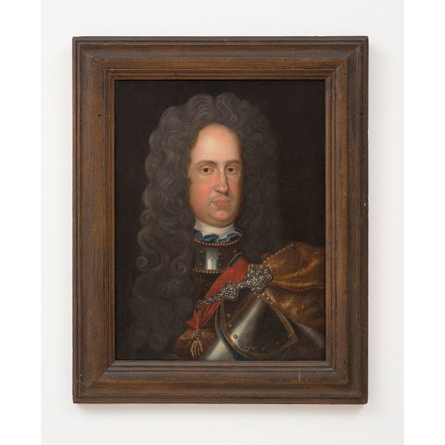 Continental School 18th Century Portrait of Charles Vi, Holy Roman Emperor For Sale In Santa Fe - Image 6 of 6