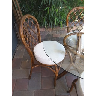 1970s Boho Chic Rattan Dining Set - 5 Pieces Preview