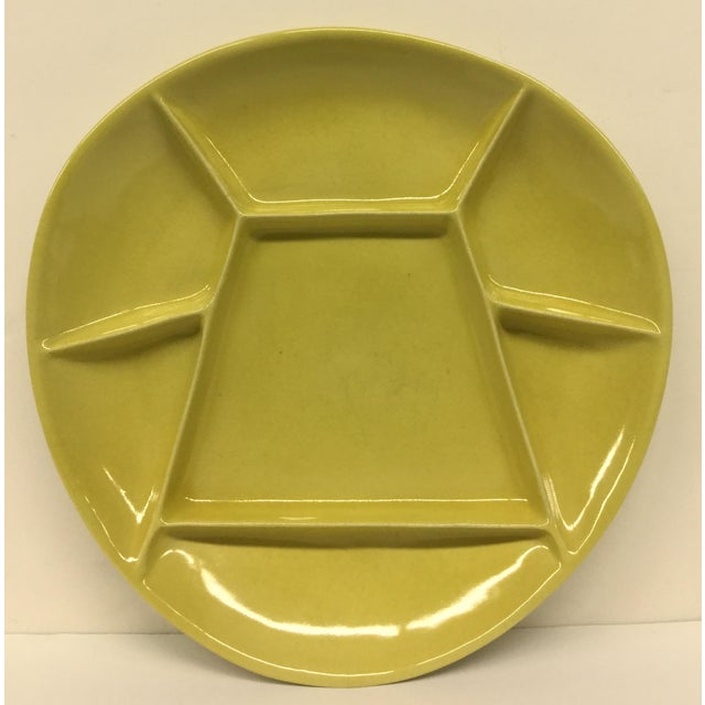 Green Mid-Century Modern Green Divided Plate For Sale - Image 8 of 8