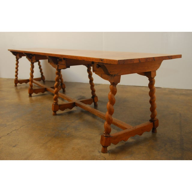 19th Century French Pine Refectory Table Chairish