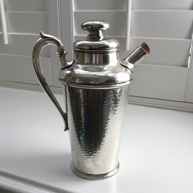 International Silver Co. Hammered Cocktail Shaker - Image 3 of 10