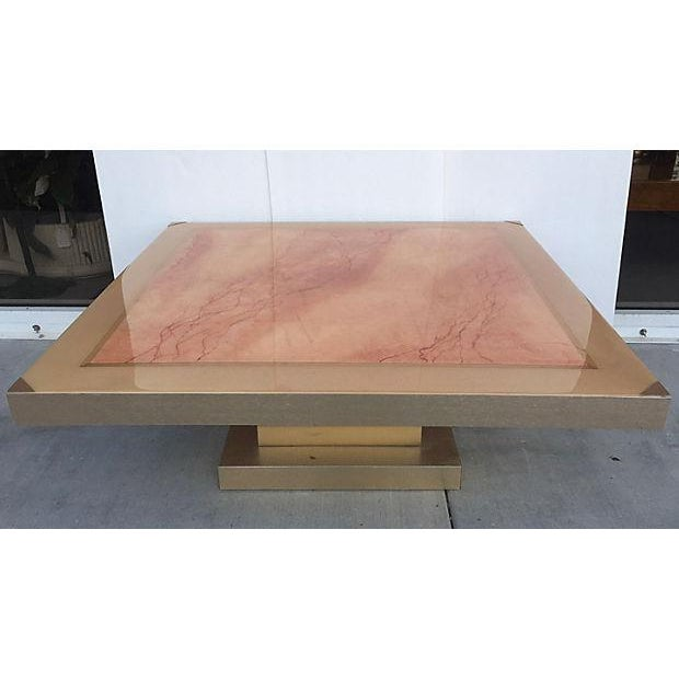 Faux Marble Square Coffee Table Chairish