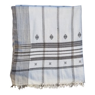 Hand Woven Embroidered Cotton Bed Cover For Sale