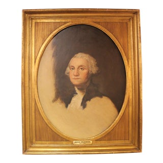 Antique Oil Painting of George Washington, Framed For Sale
