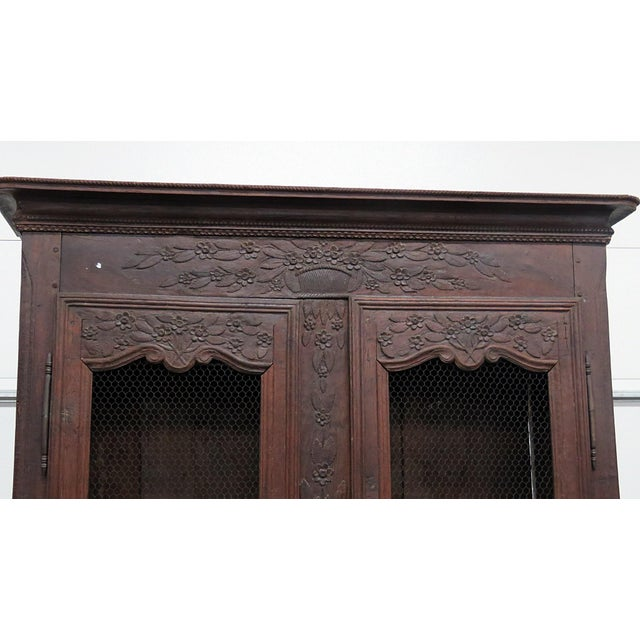 18th C. French Provincial Armoire For Sale - Image 4 of 11