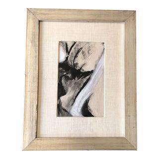Original Vintage Abstract Pastel Vintage Frame For Sale