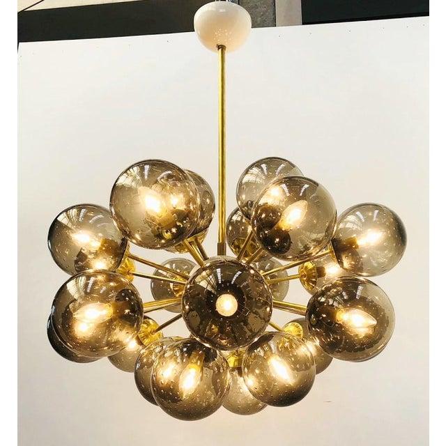 Italian Ovale Sputnik Chandelier by Fabio Ltd For Sale - Image 3 of 12