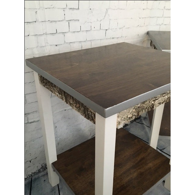 Rustic Farmhouse End Tables - a Pair - Image 3 of 5