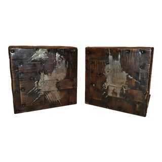 Paul Evans Brutalist Patchwork Bookends - a Pair For Sale