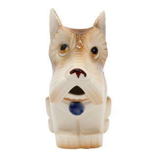 Occupied Japan Ceramic Terrier Creamer For Sale