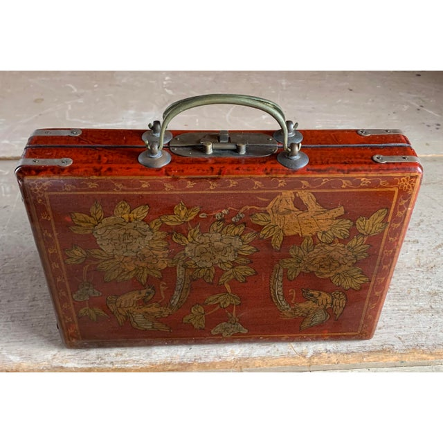 Old Asian Tea Caddy Case For Sale - Image 9 of 11