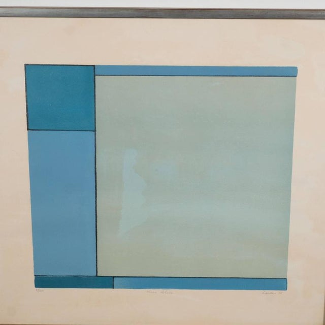 Gray American Ludwig Sander Geometric Color Field Lithograph For Sale - Image 8 of 10