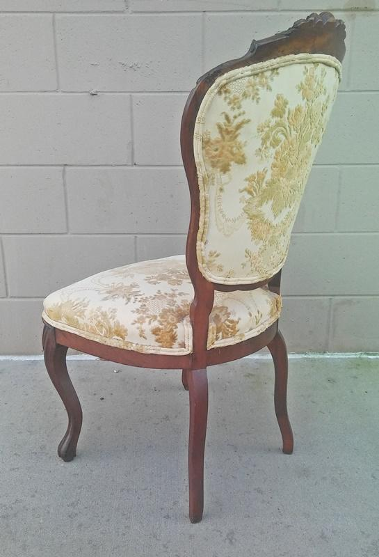 Victorian Carved Mahogany Side Chair, 1800s   Image 5 Of 8