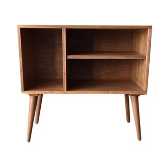 Mid-Century Style Custom Bar Record Cabinet
