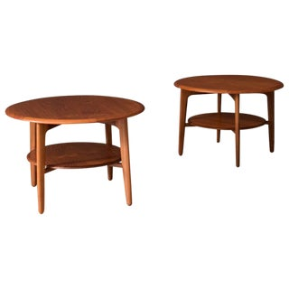 Danish Teak Side Tables by Svend Madsen - a Pair For Sale